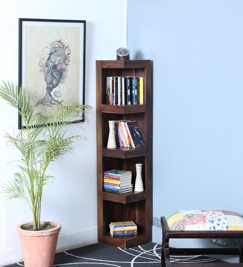 Acropolis Display Unit in Provincial Teak Finish by Woodsworth