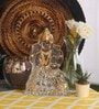 Silver Finish Crystal Goddess Lakshmi Idol by Diamond Crystal