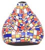 Digital Printed Bean Bag with Beans in Chequered Box Design by Can