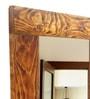 Brown Pine Wood Florida Mirror by Divine Decor