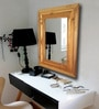 Brown Teak Wood Imperial Mirror by Divine Decor