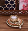 Largessee Gold Metal Diwali Bead T Light