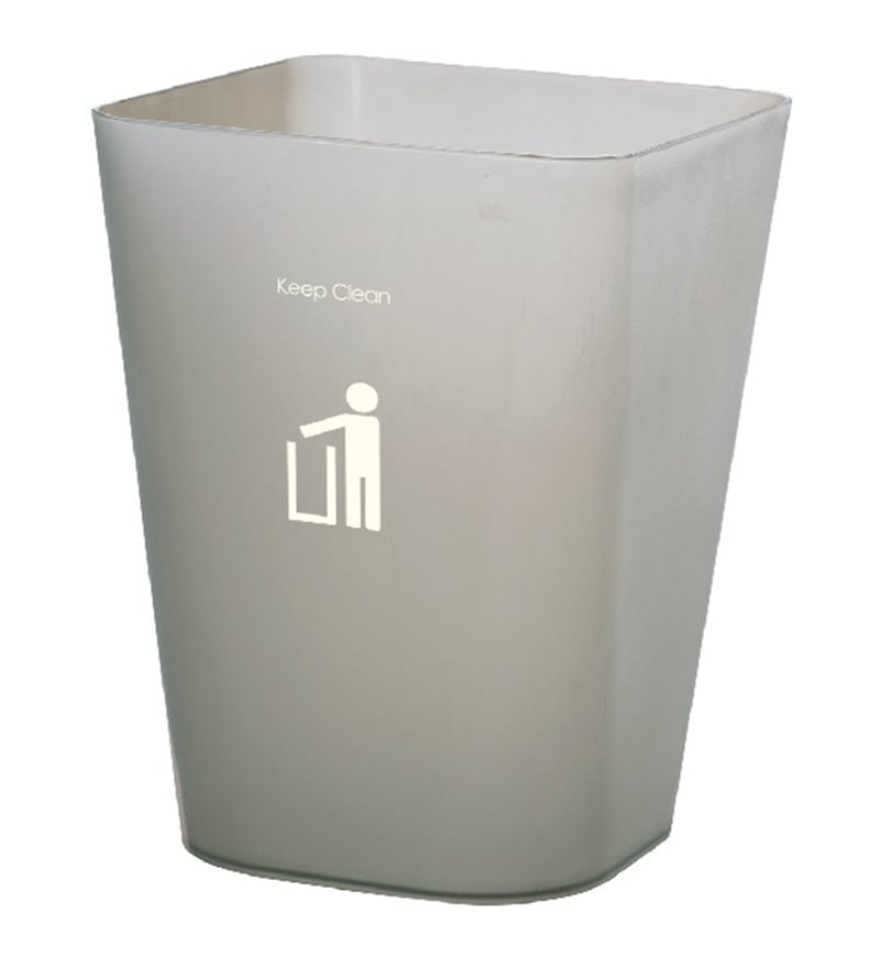 Dkw Smoke Grey 11 L Square Trash Can