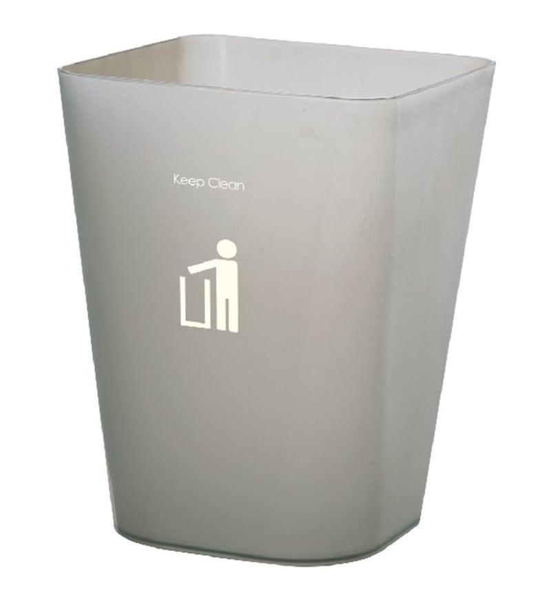 Dkw Smoke Grey 11 L Square Trash Can
