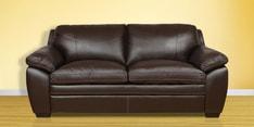 Doris Three Seater Sofa in Dark Brown Colour