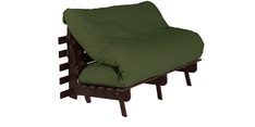 Double Futon with Mattress in Green Colour