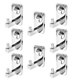 Doyours Glossy Stainless Steel 3.1 Inch Hook - Set Of 8