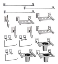 Doyours Stainless Steel Glossy 15-piece Bathroom Fixture Set