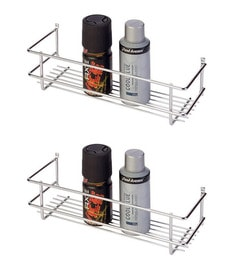 Superieur Doyours Glossy Stainless Steel 11.8 Inch Bathroom Shelves Set Of 2