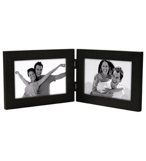 Buy Brown Synthetic Wood 5 x 7 Inch Landscape Folding Photo Frame by ...