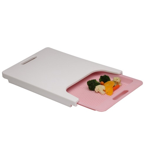 Doble Kitchen Slide Style Pink Cutting Chopping Board