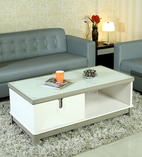 Donguan Coffee Table In White Finish