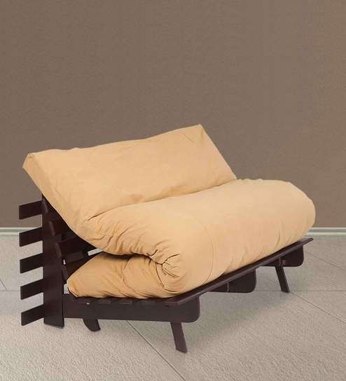 double futon sofa bed. Double Futon Sofa Cum Bed With Mattress In Light Brown Colour By ARRA -