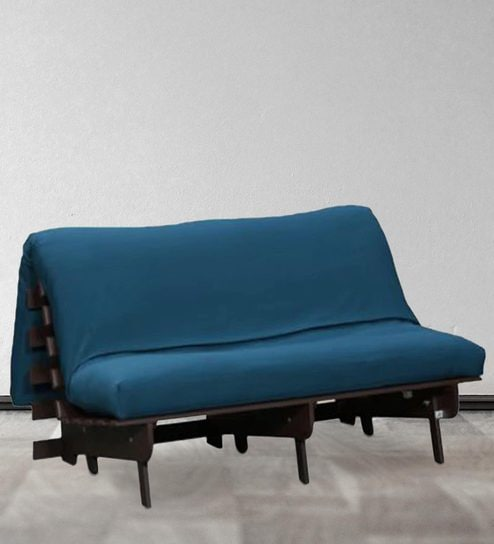 Double Futon With Mattress In Blue Colour By Auious Home