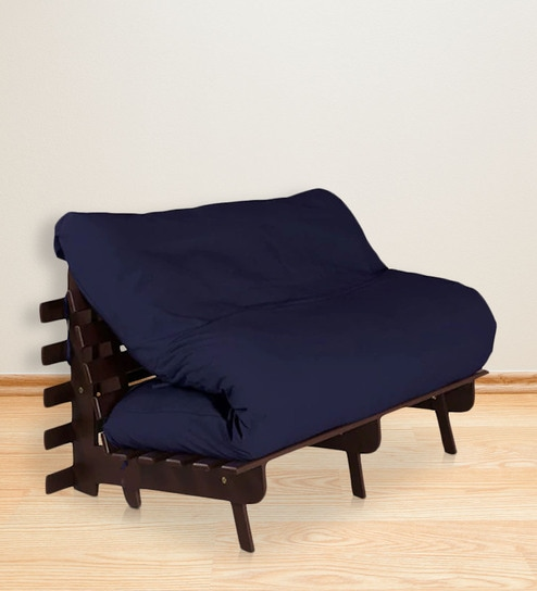Double Futon With Mattress In Dark Blue Colour By Auious Home