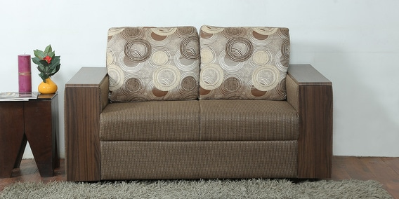 durban two seater sofa in brown colour by star india rh pepperfry com