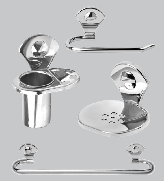 Buy Doyours Glossy Stainless Steel 4 Piece Bathroom Accessories Set Online Bathroom Fixture Sets Bathroom Fixtures Discontinued Pepperfry Product