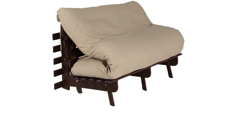 Double Futon with Mattress in Beige Colour by Auspicious Home