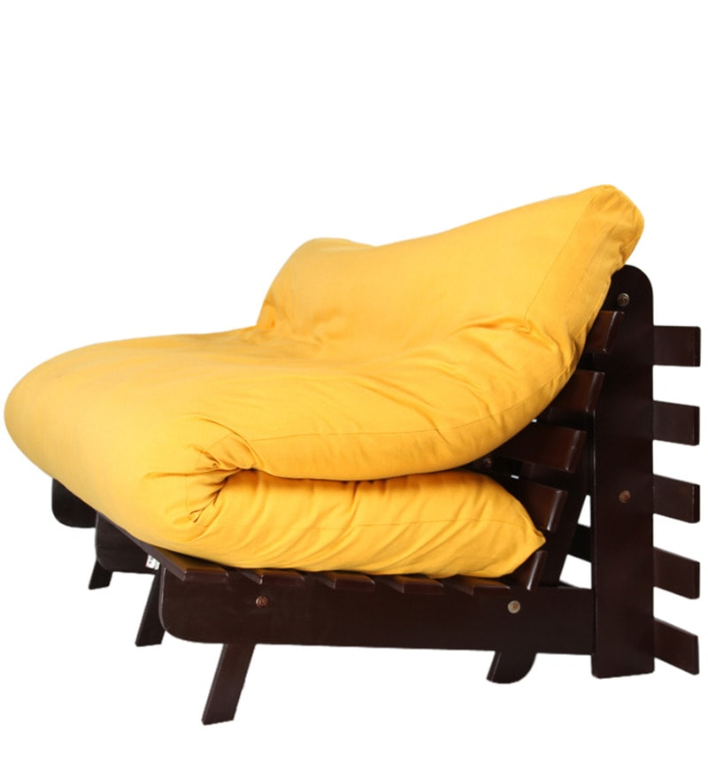 Yellow futon sofa bed hereo sofa for Sofa bed yellow