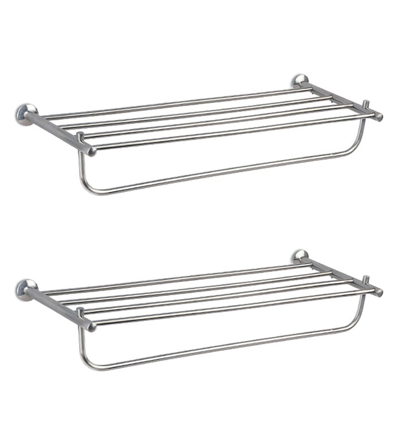 Doyours Diamond Series Glossy Stainless Steel 24 Inch Towel Rack Set