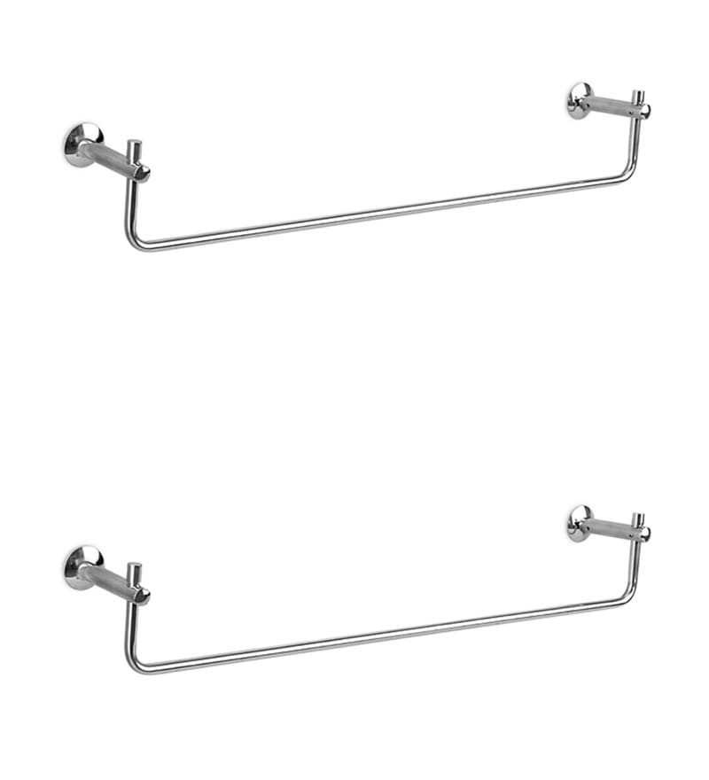 Doyours Glossy Stainless Steel 24.4 Inch Towel Rail Set