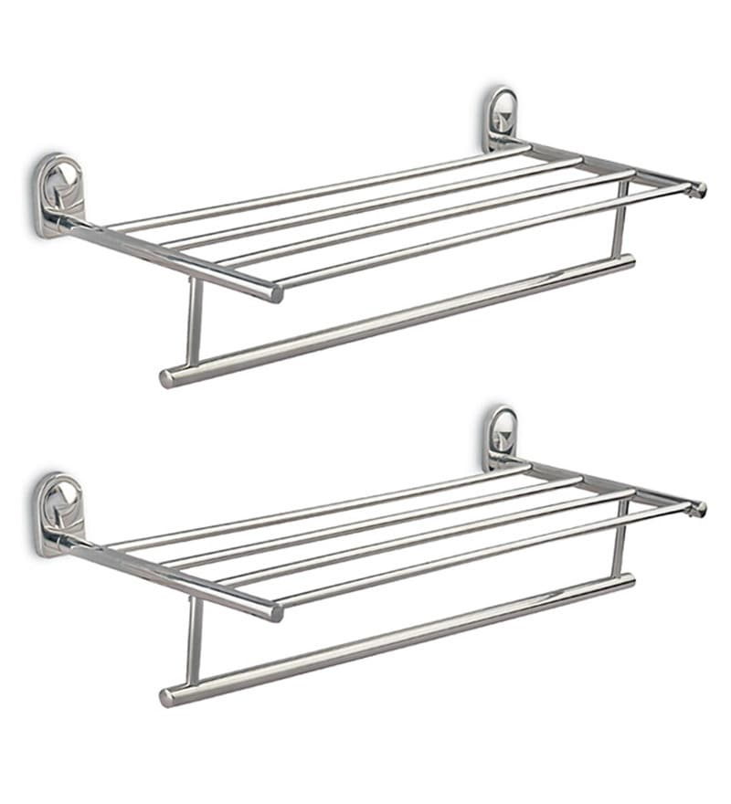 Doyours Glossy Stainless Steel 24.8 Inch Towel Rack Set