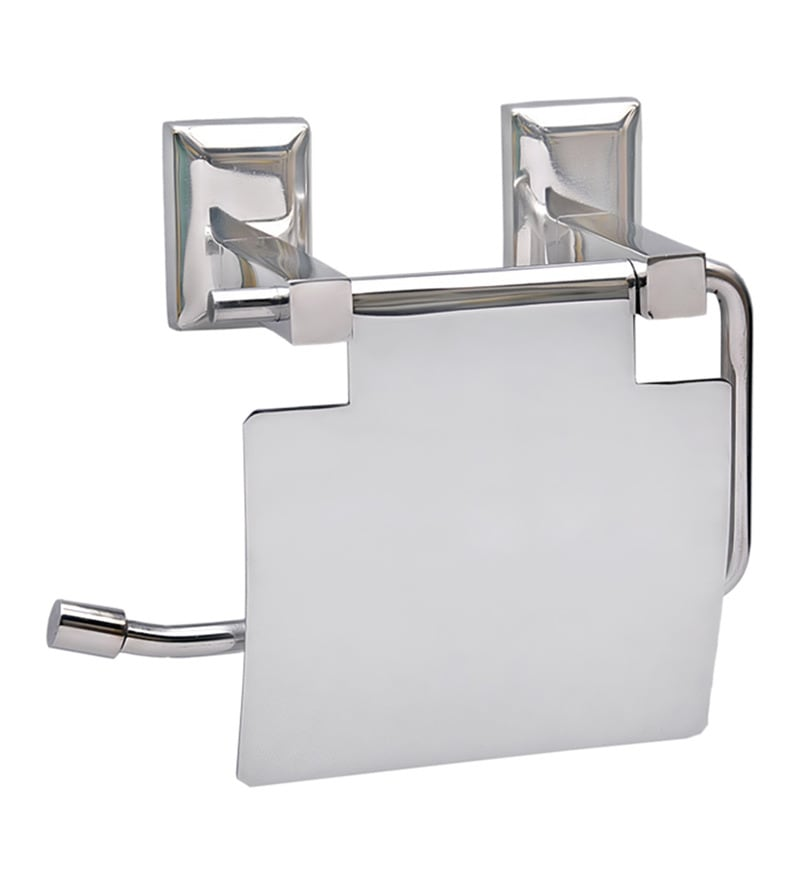Doyours Glossy Stainless Steel 5.3 x 5.7 x 3.1 Inch Toilet Paper Holder