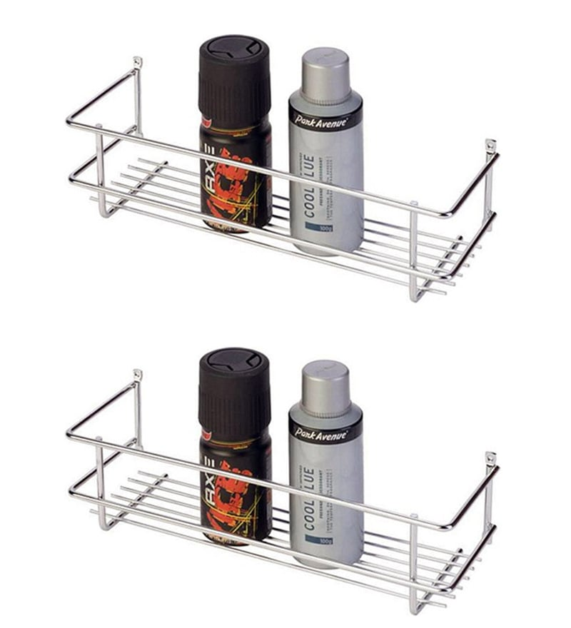 Doyours Glossy Stainless Steel 11.8 Inch Bottle Rack Set