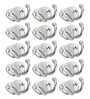 Designer Butterfly Stainless Steel & Metal Silver Multipurpose Hook - Set of 15 by Doyours
