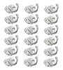 Designer Butterfly Stainless Steel & Metal Silver Multipurpose Hook - Set of 18 by Doyours