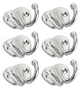 Designer Butterfly Stainless Steel & Metal Silver Multipurpose Hook - Set of 6 by Doyours