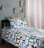 White Cotton Single Size Bed Sheet - Set of 2