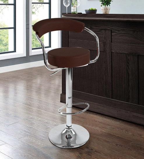 Admirable Drake Metal Swivel Bar Stool In Dark Brown Colour By Workspace Interio Ocoug Best Dining Table And Chair Ideas Images Ocougorg