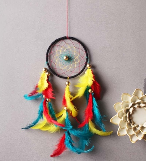 Dream Catcher Purpose Simple Buy Rooh Wellness Bohemian Multicolour Wool Dream Catcher Online