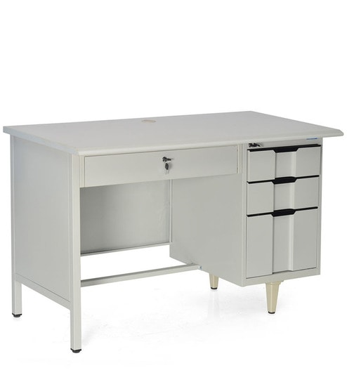 Ordinaire Dream Office Table With Wide Drawer In Grey Colour By Nilkamal
