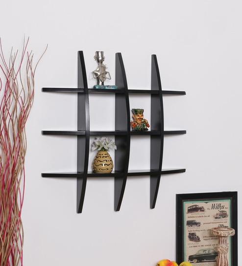 buy walnut mdf globe shape wall shelf by driftingwood online rh pepperfry com walnut wall shelves uk dark walnut wall shelves