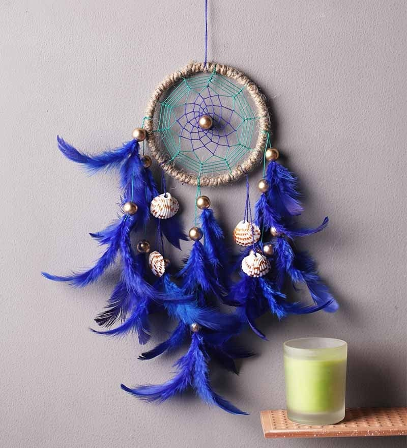 Royal Sea Shell Multicolour Wool Dream Catcher by Rooh Dream