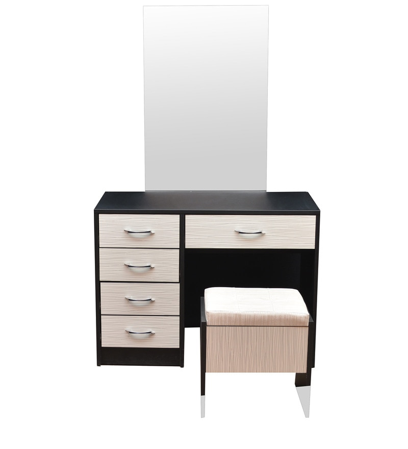 Dressing Table in Ivory Black Colour by Parin