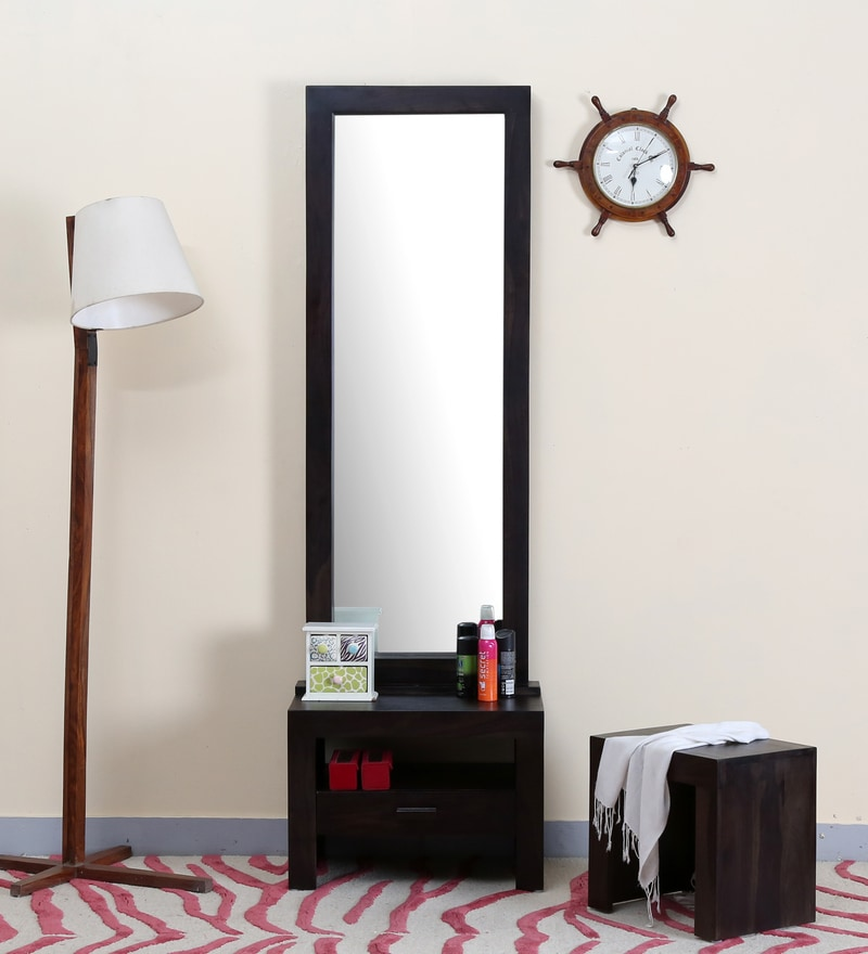 Acropolis Dressing Table with Mirror in Warm Chestnut Finish by Woodsworth
