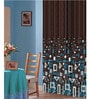 Dreamscape Blue Polyester 84 x 47 Inch Abstract Eyelet Door Curtains - Set of 2