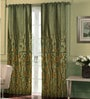 Green Polyester 84 x 47 Inch Abstract Eyelet Door Curtains - Set of 2 by Dreamscape