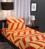 Yellow Cotton Single Size Bed Sheet with Pillow Cover - Set of 2 by Dreamscape