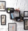 Driftingwood Black MDF Intersecting Storage Wall Shelf