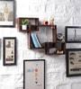 Driftingwood Brown MDF Intersecting Storage Wall Shelf