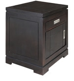Dublin Bed Side Table  in Dark Brown Finish