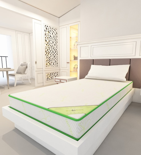Dual Comfort Cairo Single Bed Mattress With High Density Foam 72 X 30 X 5  Inches By Bamboo Mattress