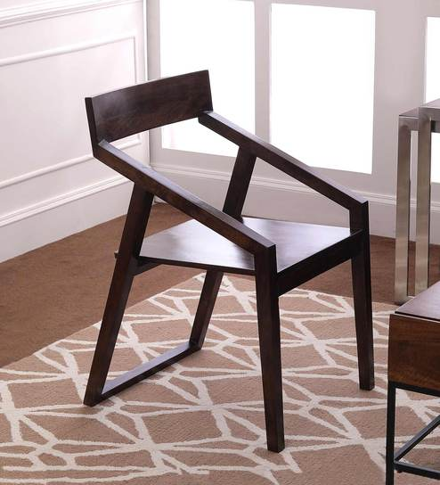 Dulwich Solid Wood Arm Chair in Provincial Teak Finish by TheArmchair