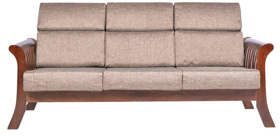 Durian Slatted Three Seater Wooden Sofa