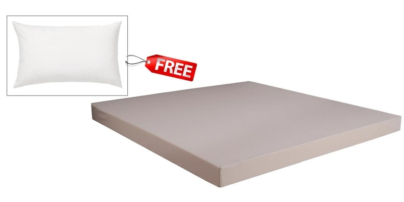 Dual Comfort Hard & Soft  Queen Size (78 x 60) 6 Inches Thick Foam Mattress (Pillow Free) by Springtek Ortho Coir