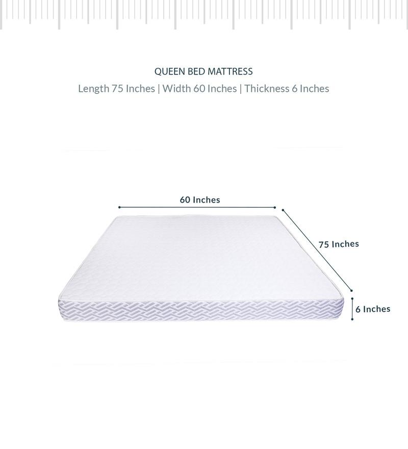 Dual Sense Queen Bed Reversible 75x60x6 Inch Foam Mattress by Sleep Sutraa